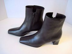 Stuart Weitzman $299 Brown Leather Mid Calf Boots Zipper Size 6 M NEW #StuartWeitzman #MidCalfBoots