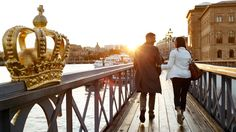 Stockholm, Sweden - Love this with the fancy crown in the picture!