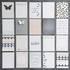 journal cards no. 3 (project life) by dearest someday