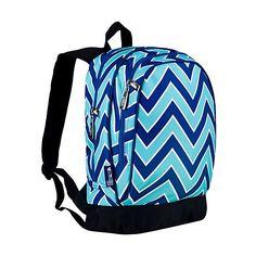 Wildkin Zigzag Lucite Sidekick Backback - ZigZag - School Backpacks ($24) ❤ liked on Polyvore featuring bags, backpacks, blue, school & day hiking backpacks, wildkin backpack, wildkin, pocket bag, blue bag and blue backpack