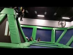 Dodgeball? How about Trampoline Dodgeball? The 5 D's of Dodgeball (Dodge, Dip, Duck, Dive and Dodge) just took on a whole new meaning with the addition of these jumpin' trampolines.