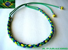 Brazil Paracord Headband by JLParacordGear on Etsy  $12.75  FIFA World Cup 2014