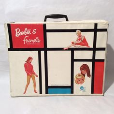Vintage 1965 Barbie and Francie Doll Case, Large, Bright, Excellent Condition by LOVELADYBIRDVINTAGE on Etsy