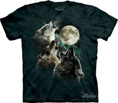L The Mountain 100/% Cotton Kids Loving Wolves T-Shirt Tee S XL NWT M