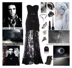 """☾ You better hope and pray that you wake one day in your own world. Cause when you sleep at night they don't hear your cries in your own world. Only time will tell if you can break the spell back in your own world. ☾"" by blueknight ❤ liked on Polyvore featuring Zuhair Murad, Boohoo, Sian Bostwick Jewellery, Stephen Webster, NARS Cosmetics, Christian Louboutin, Alexander McQueen, STELLA McCARTNEY and Giuseppe Zanotti"