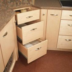 Kitchen Corner Cabinet with Drawers - http://thekitchenlove.com/ will be your one stop shop for all kitchen related needs