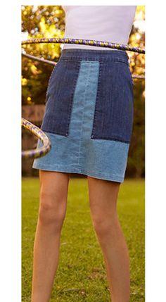 Patch Denim Pam Skirt – Loup