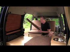 Woodworker mods Ford Transit into camper van - YouTube