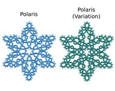 This listing is for a group of snowflake tatting patterns, not the finished tatted items. The file is in PDF format and is 8 pages long, approximately 6 MB in size. You will need Adobe Acrobat or other PDF reader to access it.  There are 4 patterns and 1 variation, for a total of 5 unique diagrams. All patterns, except for Crystalline are diagram only. Crystalline is more complex and has written instructions as well as a diagram.  The patterns included in this package are as follows: 1)…