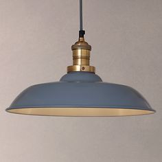 John Lewis Croft Collection Clyde Brass Trim Ceiling Pendant Light