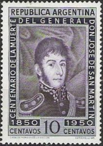 José Francisco de San Martín (1778-1850), 100th death anniv.