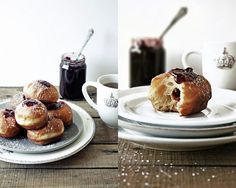 Pratos e Travessas: Sufganiyot  Yummy looking from adapted from 'The book of jewish food' - Claudia Roden