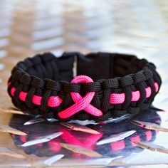 Pink Ribbon Breast Cancer Awareness Paracord Bracelet by TARCGear, $12.00