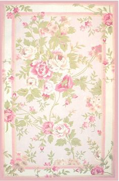 The Rug Market America Trm 2-antoinette 11606 Pink/sage Area Rug Beautiful shades of pink and greens...