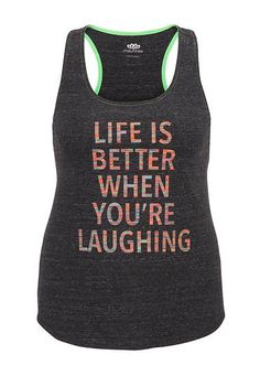 life is better when you're laughing plus size tank (original price, $29) available at #Maurices