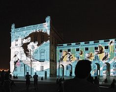 The Art of the New Lisbon - via SilverKris - The Travel Magazine of Singapore Airlines 24.02.2015 | The Portuguese capital fuses a captivating mix of passion and creativity that's sparking its regeneration. Photo: A multimedia show is projected onto buildings in Praca do Comercio.