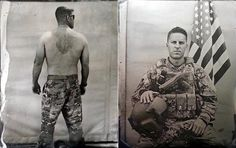 California Air National Guardsman Ed Drew lugged a large format Speed Graphic camera to Helmand province, Afghanistan to shoot portraits of his fellow airmen during his three-month tour. The image on the right, of Drew's co-pilot, is his favorite in the series.