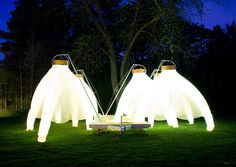 Inflatable Illuminated Pavilions : fantastic trailer by cheryl baxter
