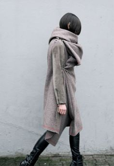 awesome coat for the windy city Blanket Coat, Winter Wear, Winter Wardrobe, What To Wear, Style Me, Personal Style, Winter Fashion, Normcore, Street Style