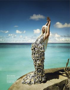I always wanted to be a mermaid ... this incredible McQueen gown could make it so