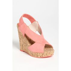Pelle Moda 'Dana' Wedge Sandal ($139) ❤ liked on Polyvore