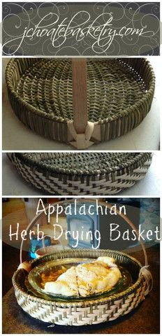 Appalachian Herb Drying Basket, aka pie basket.  jchoatebasketry.com - J Choate Basketry