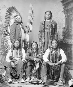 Five American Indians of the Arapaho Nation.  A truly beautiful picture.