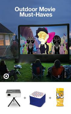 Find outdoor movie screens, snacks & must-haves to host an epic outdoor movie night for the kids. Backyard Games, Backyard Projects, Outdoor Projects, Backyard Ideas, Backyard Movie Nights, Outdoor Movie Nights, Outdoor Theater, Outdoor Play, Outdoor Movie Party