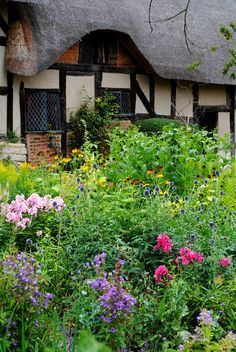 This is Anne Hathaway's picturesque cottage home, the place where young William Shakespeare wooed and cooed over his future bride. The cottage is in Shottery, a hamlet one mile from the town centre of Stratford-upon-Avon in Warwickshire and accessible via a sign-posted footpath. (image Mark Wordy flickr)
