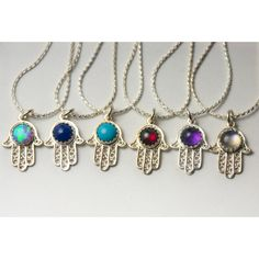 Sterling Silver Hamsa Necklace with 5mm Gemstone of your choice ($42) ❤ liked on Polyvore featuring jewelry, necklaces, evil eye charm, sterling silver jewelry, cabochon necklace, sterling silver hamsa necklace and sterling silver gemstone necklaces