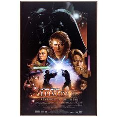 Star Wars - Episode III - Revenge of the Sith Poster Poster Print, PDecorate your home or office with high quality posters. Star Wars - Episode III - Revenge of the Sith Poster is that perfect piece that matches your style, interests, and budget. Star Wars Film, Star Wars Poster, Star Wars Watch, Star Wars Art, Poster Poster, Ewan Mcgregor, Star Wars Teil 1, Chevalier Jedi, Unique Selling Proposition