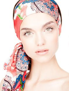 Of course I love this because of my bridal line of hair accessories . Hijabs, Scarf Hairstyles, Cool Hairstyles, Be Your Own Kind Of Beautiful, Simply Beautiful, Beautiful Women, Diy Hair Accessories, Summer Makeup, Scarf Styles