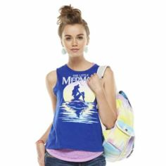 """Modern Lux """"The Little Mermaid"""" Burnout Sleeveless Tee - Juniors....Must Have!"""