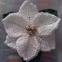 serweta szydełkowa z kwiatami szydełkowa