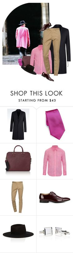 """""""- Menswear: """"Pink done right."""" -"""" by rashana ❤ liked on Polyvore featuring Emporio Armani, Ralph Lauren, Serapian, 120% Lino, Dsquared2, Paul Smith, Off-White, men's fashion and menswear"""