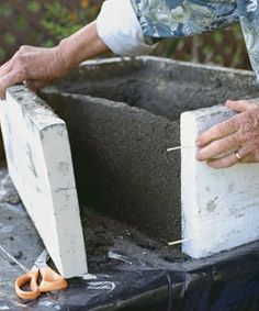 Here are the rough proportions for the mix by volume: two parts Portland cement, three parts sifted peat, three parts perlite. You'll need much less of the reinforcing fibers, about a handful.    Here's another way of looking at it. To