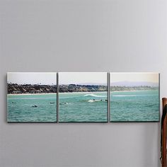 MEDIUM: 3 Panel Canvas Art TITLE: Runnin' Out of Air LOCATION: Dana Point, California TAGS: Surfers