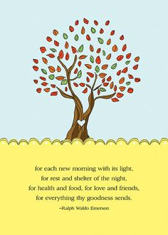 Gratitude Tree Free  5x7 mini print, Ralph Waldo Emerson quotes by define1lady, via Flickr