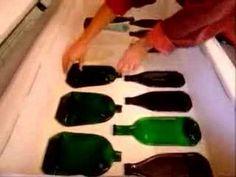 melt a glass bottle in your toaster oven Melted Wine Bottles, Wine Bottle Corks, Alcohol Bottles, Bottles And Jars, Recycled Glass Bottles, Glass Bottle Crafts, Diy Bottle, Bottle Art, Cutting Glass Bottles