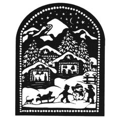 Esther Gerber — Children in the Snow Kirigami, Christmas Cards To Make, Christmas Paper, Christmas Crafts, Paper Cutting, Glass Block Crafts, Paper Art, Paper Crafts, Silhouette Pictures