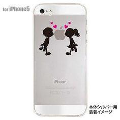 露天拍賣 日本究極!日本製【iphone 5 手機保護殼 透明系列】兩小無猜 小情侶
