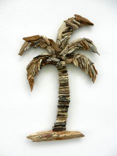 Driftwood Palm Tree Coastal Wall Decor by BeachwoodDreams on Etsy