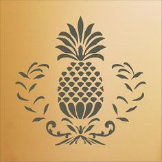 Pineapple Tattoo, Pineapple Art, Pineapple Design, Pinapple Decor, Stencil Fabric, Stencil Material, Stenciling, Custom Stencils, Stencil Designs