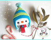 Snowy the Snowman-Christmas ornaments patterns-Snowman Christmas PDF Ornament pattern-Snowman ornament-DIY pattern-Felt ornament pattern