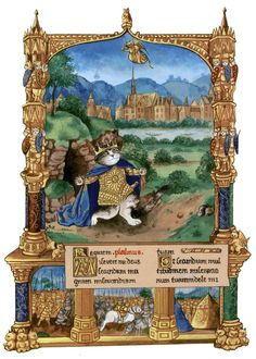 """""""David's Punishment. The very Rich Hours of Jean of France (Cats Medieval)"""" par Susan Herbert"""