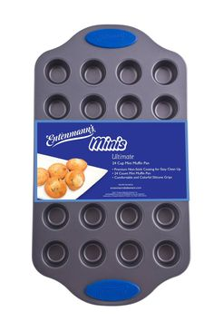 Entenmanns Bakeware ENT29013 Ultimate Mini Muffin/Cupcake Pan, 24-Cup >>> Additional details at the pin image, click it @ - Baking pans