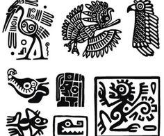 Bilderesultat for simbolos mayas Doodles Zentangles, Symbols And Meanings, Chicano Art, Chicano Drawings, Africa Art, Native American Art, Tribal Art, Ancient Aliens, Folk Art
