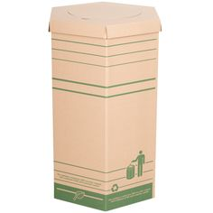 Large Cardboard Recyclable Trash Can Cardboard Recycling Bins, Trash Containers, Summer Party Decorations, Janitorial, Garbage Can, Diy Recycle, Recycled Materials, Recycling Ideas, Decorative Items