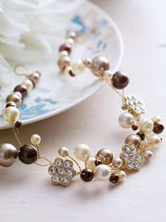 button and pearl necklace