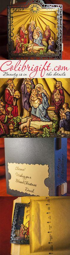 Christmas gift, gift card, Christmas gift idea, Luxury gift, Handmade card